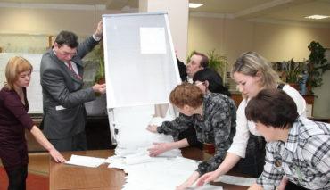 Работа участковой избирательной комиссии в день голосования 18 марта 2018 года